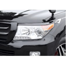 2012 2013 2014 TOYOTA LAND CRUISER 200 JAOS HEAD LIGHT GARNISH UNPAINTED ABS