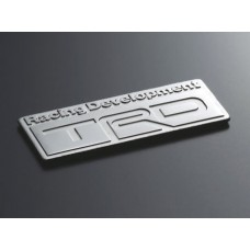 TRD JAPAN EMBLEM TYPE B JDM TOYOTA SCION GENUINE LEXUS JDM PLATED PLATE ORNAMENT