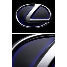 2005 2006 2007 2008 LEXUS IS250 350 R EMBLEM PLATE HYBRID BLUE x BLACK 201B